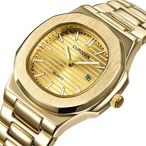 (2019 Summer Deals ! Stainless Steel Luxury Men Fashion Nautilus Analog Sport Quartz Wrist Watch Wrist Watch for Men Under 10)
