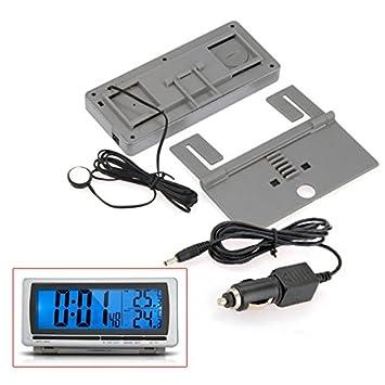 Termómetro Digital Multifunción LED Temperatura LCD para Coche: Amazon.es: Coche y moto