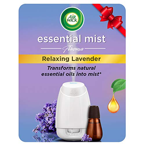 Airwick Essential Mist Automatic Fragrance Mist Diffuser Kit (Machine + Relaxing Lavender refill – 20 ml)