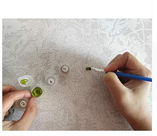 LIWEIXKY Waldlandschaft DIY Malen Nach Nach Nach Zahlen Bild Wandkunst Leinwand Malerei Einzigartiges Geschenk Für Wohnzimmer Kunstwerk - Rahmenlos - 50x60cm B07PQM6VFQ | Großartig  16b11c