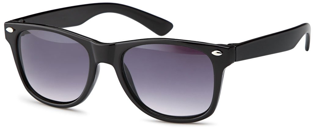 Wayfarer Sonnenbrille aus Kunststoff Kindersonnenbrille mit verlaufenden Gläsern - UV 400 Filter und CE-Prüfzeichen (Weiß/ grau verlaufend) IvNoG1yQXh