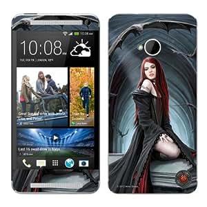 Diabloskinz B0095-0079-0003 Await The Night - Skin de vinilo para HTC One, diseño de chica vampiro