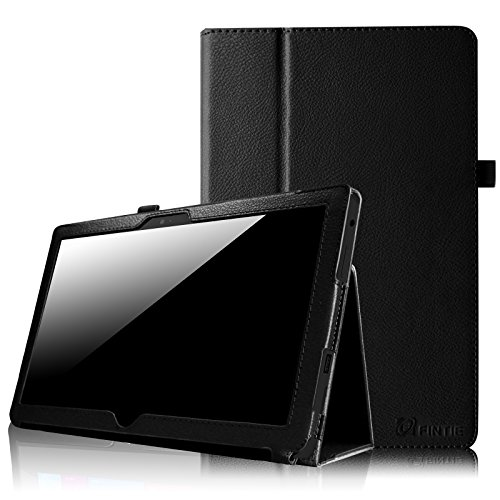 Fintie Folio Case for Microsoft Surface RT/Surface 2 10.6 inch Tablet Slim Fit with Stylus Holder (Does Not Fit Windows 8 Pro Version) - Black