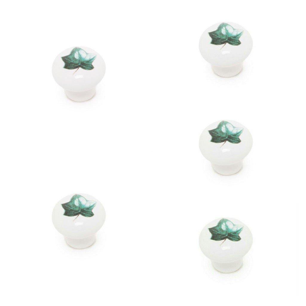 ABC/_ba/ño Tirador Mueble de Porcelana 5 Unidades Flor Azul