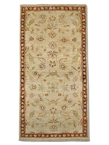 Sultanabad Cream - Traditional Persian Chobi Handmade Sultanabad Rug, Wool, Cream, 2' 6