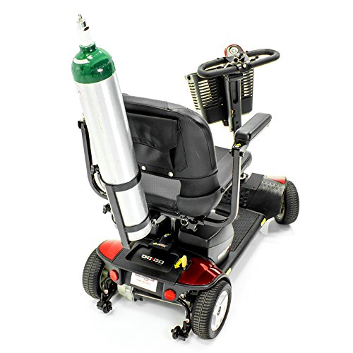 Challenger-Mobility-JO2H-Oxygen-Cylinder-Tank-Holder-Accessory-Bracket-for-Most-Scooters