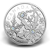 2012 $20 Fine Silver Coin 12 Holiday Snowstorm Swarovski Crystals Mintage 10000