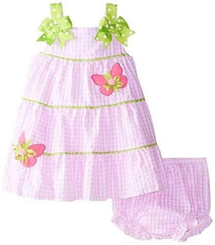 Rare Editions Baby Girls' Butterfly Applique Seersucker Dress (3-6 (Rare Editions Butterfly Dress)