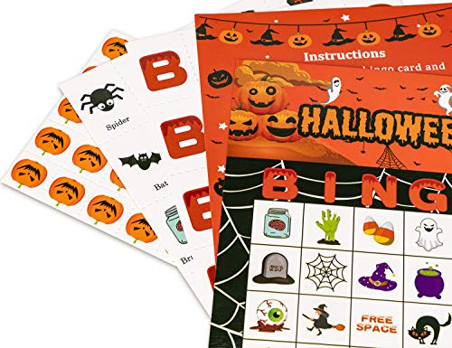 halloween games bingo cards for kids class party supplies activity 24players