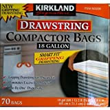 kirkland compactor - Kirkland Compactor Bags Smart Fit Gripping Drawstring Trash Bags 18 Gallon, Select