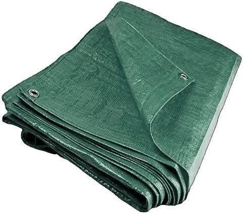 Faithfull Tarpaulin Green 18ft x 12ft Highly Durable Silver 5.4M x 3.6M