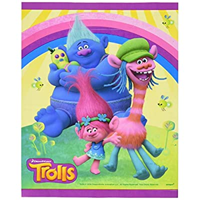 Unique Trolls Loot Bags, 8 Ct.: Toys & Games