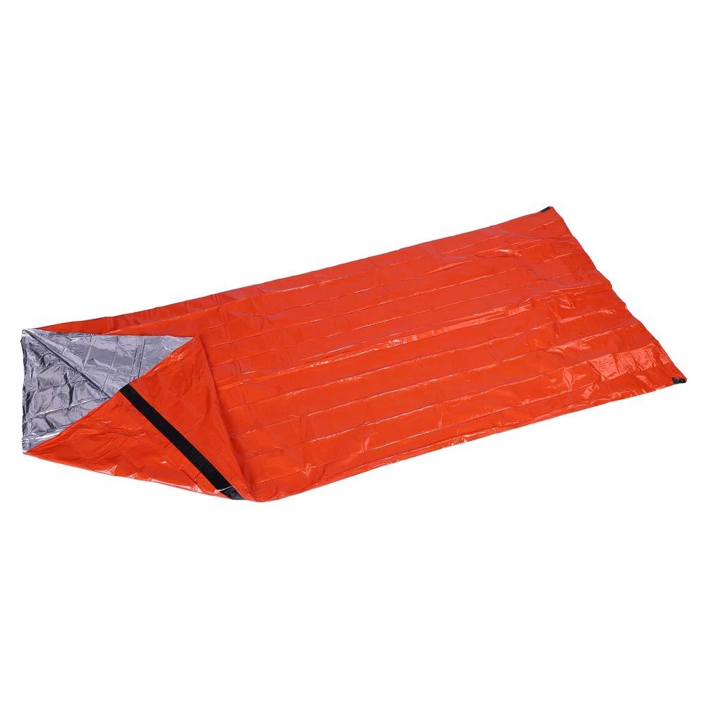 Haofy Saco de Dormir de Aluminio para Acampar, Montañismo de Emergencia, Protección contra el Frío, Alivio de Desastres, Manta de Emergencia: Amazon.es: ...