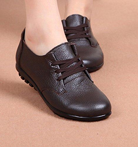 fille Marron Fangsto Chaussures à Oxford femme lacets YRw1IUwq