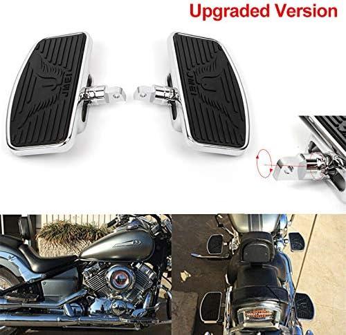 Adjustable Motorcycle Floorboards Rear Passenger Foot Pegs Footboard Pedals for Harley Sportster 883 1200 Eagle Pattern Rear Floorboard