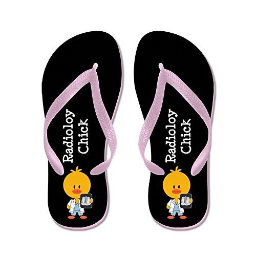 Cafepress Radiology Chick - Flip Flops, Grappige String Sandalen, Strand Sandalen Roze