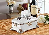 Hyun times European-style tissue box pumping tray Decoration luxury living room coffee table household ceramic grade paper box pumping Household American