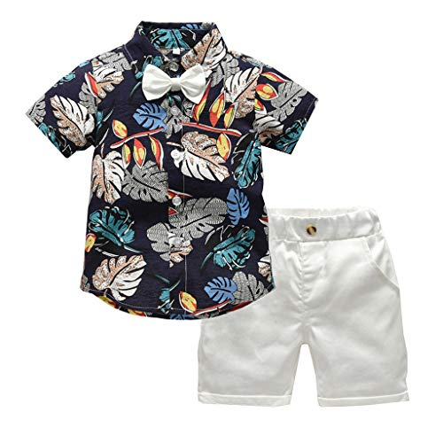 - Xturfuo Baby Boy Clothes Short Sleeve Wild One T-Shirt Printing Pants 2PC Summer Outfit Set