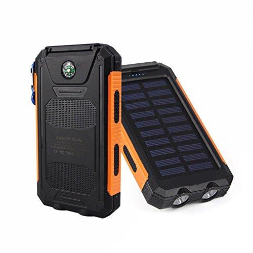 Waterproof 50000mAh USB Solar Charger Power Bank (Blue/Black) - 2