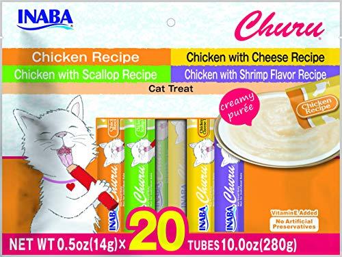 INABA Churu Chicken Recipe Lickable Creamy Puree Cat Treats Variety 20 Tubes