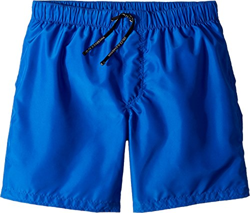 Dolce & Gabbana Kids Boy's Mid Swim Boxer (Big Kids) Blue Print 12 by Dolce & Gabbana