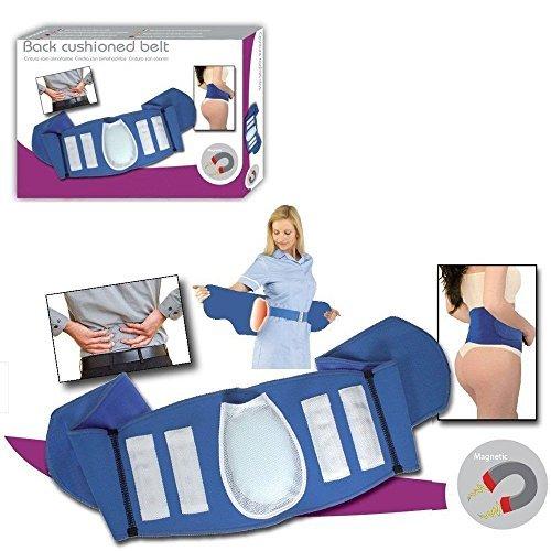 Magnetic Blue Lumbar Back Support Belt 16 Magnets Cushion Lower Back Pain Brace