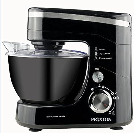 PRIXTON Kitchen + Batidora amasadora orbital 4,5l 600W NEGRA: Amazon.es: Hogar