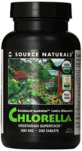 SOURCE NATURALS Emerald Garden Organic Chlorella 500 Mg Tablet, 200 Count For Sale