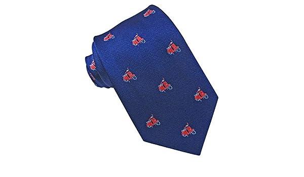 JOSVIL Corbata Seda Azul Royal Vespas: Amazon.es: Ropa y accesorios