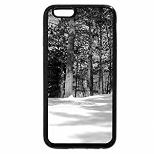 iPhone 6S Plus Case, iPhone 6 Plus Case (Black & White) - Birch With A Curve