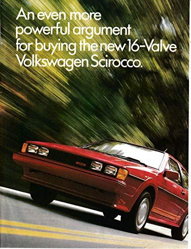 (1986 VW Scirocco-New 16 Valve Powerful Argument-Volkswagen Original Magazine Ad)