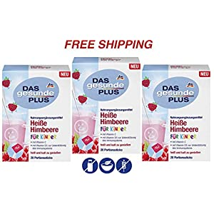 Children Hot Raspberry Drink with Vitamin D3-3 Packs, Das gesunde Plus/Germany