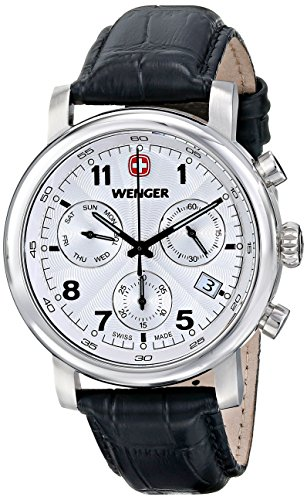 Wenger Men's 01.1043.105 Urban Classic Stainless Steel Watch with Textured Band