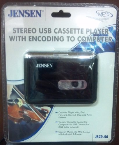 Deck Twig (Jensen Stereo USB Cassette Player With Encoding To Computer)
