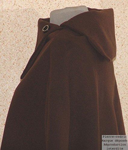 poncho polaire cedric extensible Marron Pierre femme Laine veste Cape manteau 1xRa5g