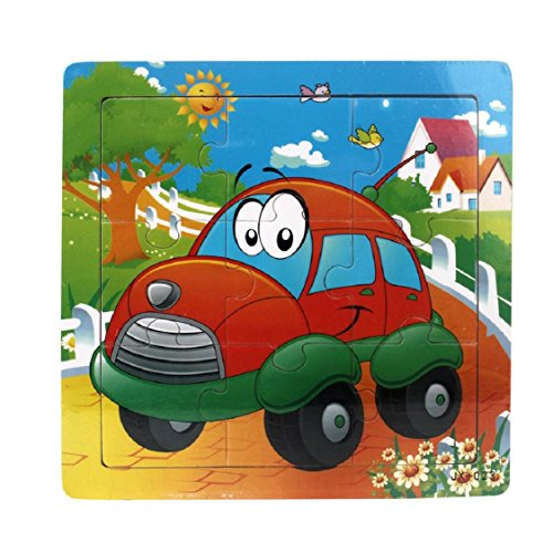 ikevan-1set-hot-selling-9-pieces-of-wooden-car-category-jigsaw-puzzle-educational-toys-for-kids-baby