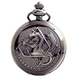 BOSHIYA Alchemist Fullmetal Alchemist Pocket Watch Chain Cosplay Accessories Black