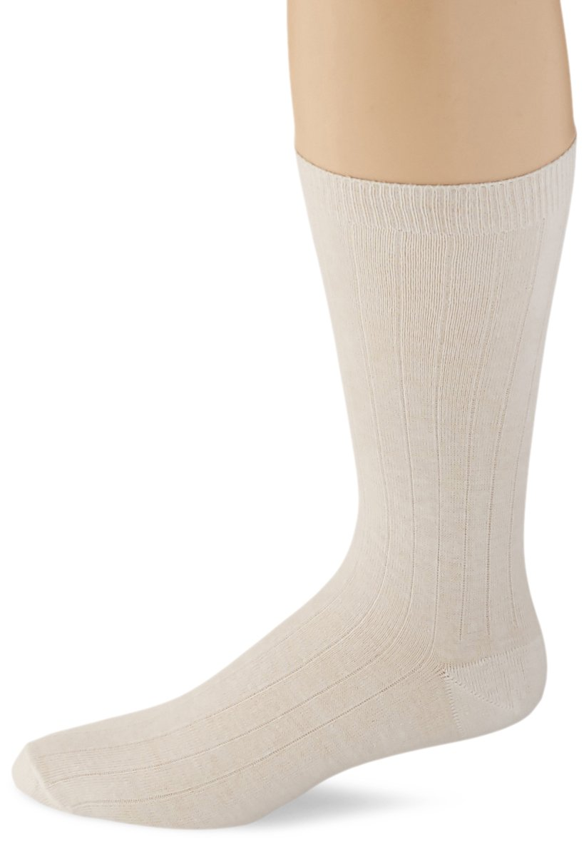 Sammons Preston 100% Cotton Oversized Socks, Men's Large/X-Large for Shoe Sizes 11-13, Extra Wide & Deep Design for Swollen Feet & Foot Casts, 6 Pairs, Dressing Aid for Diabetes & Foot Injuries