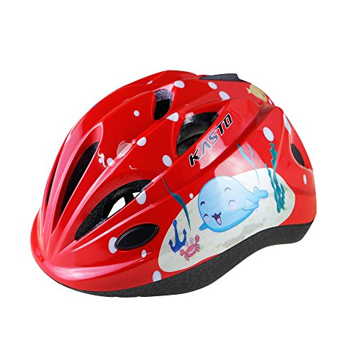 Lingmai Kids Youth Adjustable Comfortable Helmet With Sports Protective Gear Set Knee Elbow Wrist Pads For Cycling Skateboarding Skating Rollerblading And Other Extreme Sports Activities  Red