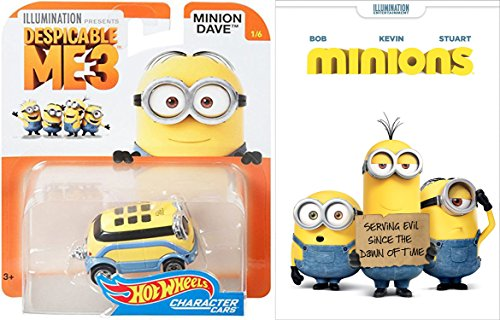 Minions Animated Movie & Hot Wheels Minion character toy car pack