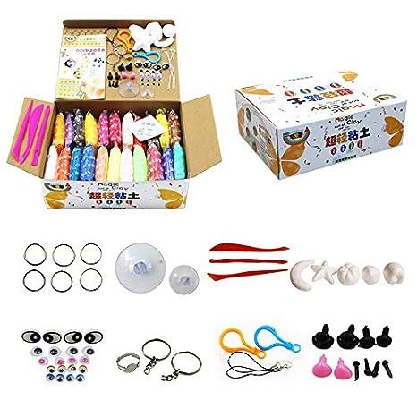 Limo Fluffy de bricolaje, 24 colores arcilla mágica DIY modelo baba de color Arcilla, regalo de Navidad para adultos y niños: Amazon.es: Juguetes y juegos