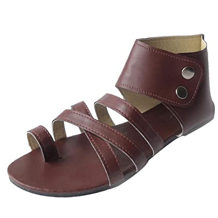 8812038a66130 Amazon.com: Women Clip Gladiator Sandals - Ladies Vegan Leather ...