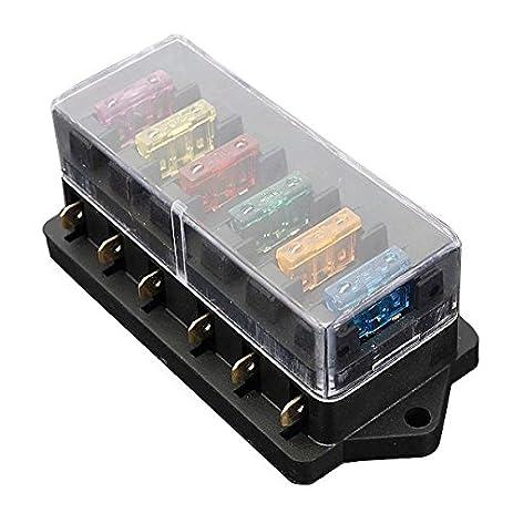amazon com blade fuse box toogoo r 6 way fuse holder box car rh amazon com 4 way mini blade fuse box blade fuse box halfords