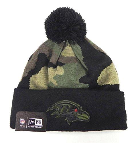 ほとんどないジャンピングジャック復活するNew Era NFL FootballビーニーBaltimore Ravens woodcamoブラック/グリーンワンサイズニット帽子 [並行輸入品]