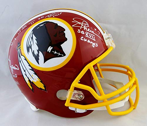 Rypien, Theismann, D. Williams Autographed Washington Redskins F/S Helmet w/Insc- JSA Witnessed Auth Silver