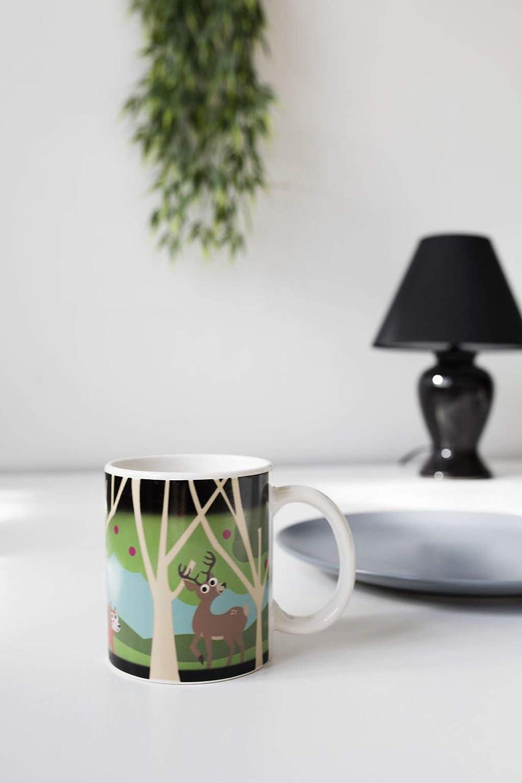 c3a1d77385c Amazon.com | Kikkerland Morphing Mug, Woodlands: Coffee Cups & Mugs
