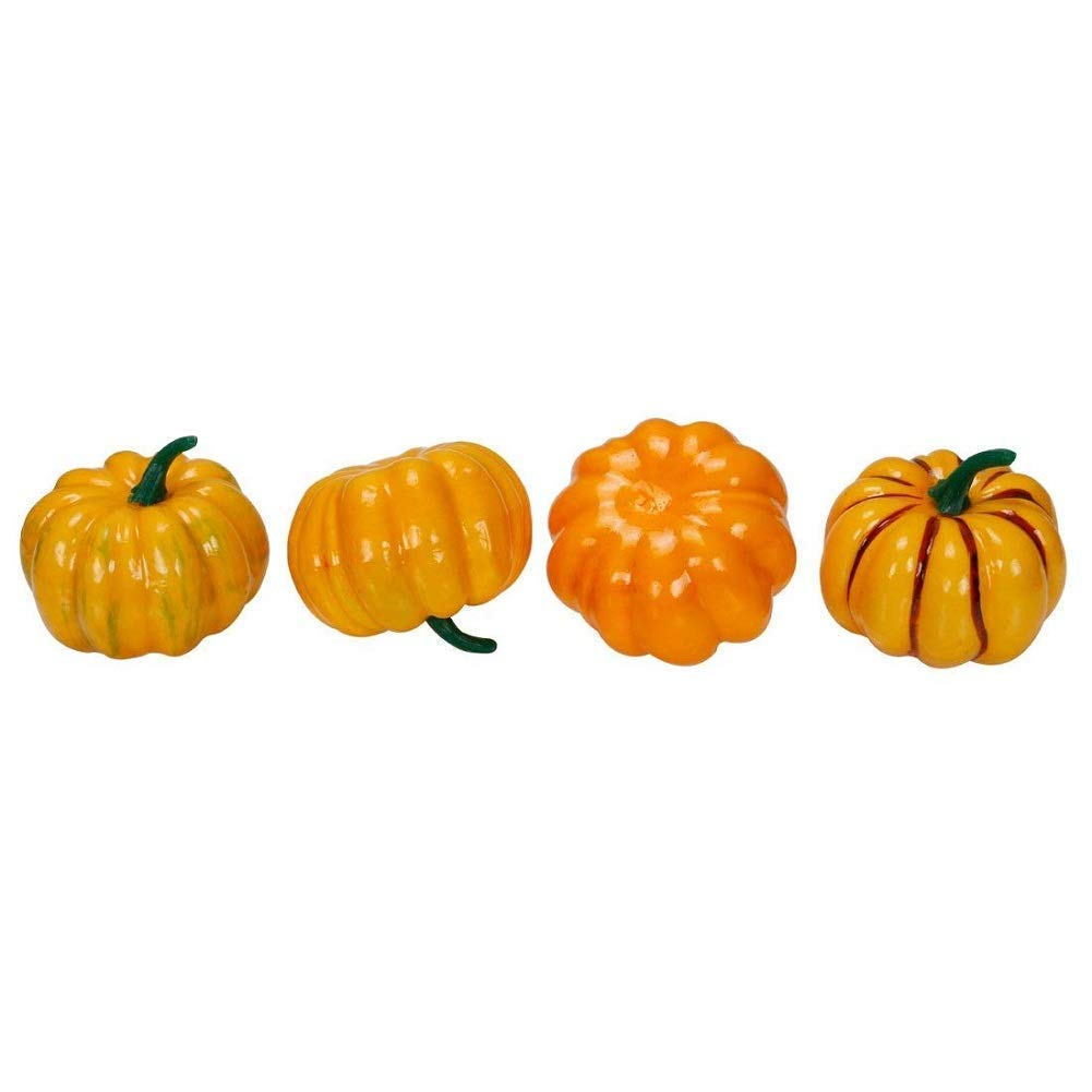 RALMALL Halloween Artificial Pumpkin Decorations,12 Pcs Assorted Fake Pumpkins Fake Vegetables Ornaments for Halloween Autumn Thanksgiving Garden Home and Harvest Decoration by RALMALL (Image #4)