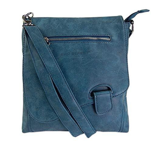 WILD THINGS ONLY !!! Bag Street – Sac à main – sac à bandoulière – aspect usé – bouton de fermeture, pétrole (Bleu) –
