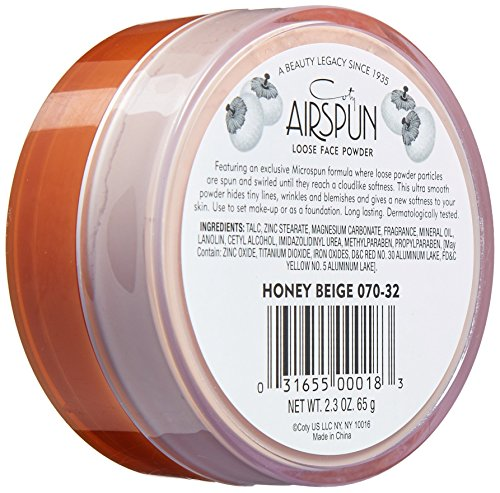 51Z4Jbu%2Bd2L Coty Airspun Loose Face Powder 2.3 oz. Honey Beige Light Peach Tone Loose Face Powder, for Setting or Foundation, Lightweight, Long Lasting