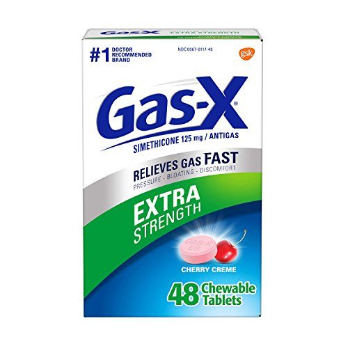 Gas-X Extra Strength Cherry Chewable Tablet for Fast Gas Relief, 48 count